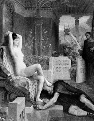 Image of the nymph-goddess Circe by Emile Levy