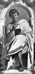 Image of imaginary portrait of ancient Roman poet Ovid