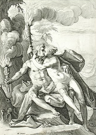 Image of requited Love represented by Eros and Anteros